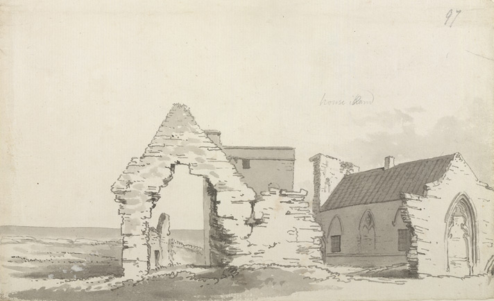 House Island or Inner Farne, chapel and ruins